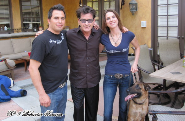 Dog attack video with Charlie Sheen